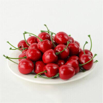 40 Stück Lebensechte Künstliche Kirschen künstliches Obst Gemüse Dekoration