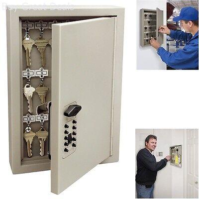 New Key Combination Lock Box Cabinet Storage Safe Wall Mount Holder