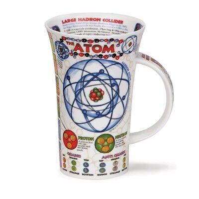 Dunoon Fine Bone China Glencoe Mug with Scientific Atom Design - Made in UK Atom-design