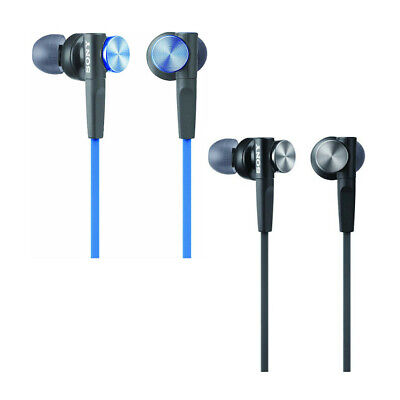 NEW Sony MDR-XB50AP Extra Bass Earbuds Wired Headphones MDRXB50AP Black Blue