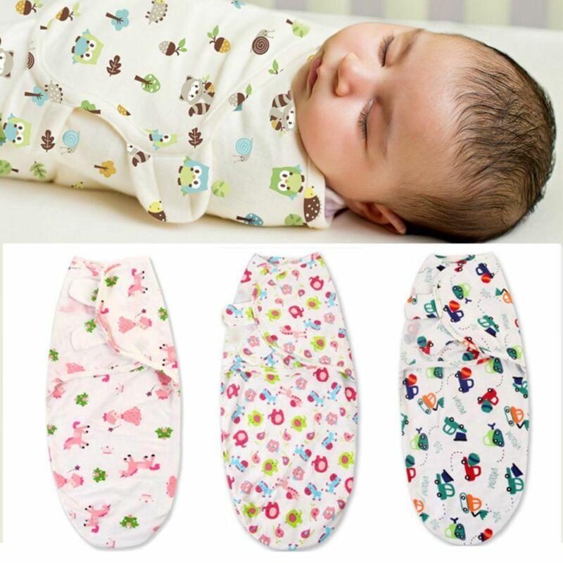Carvapet 3stk Pucksack Baby 3-6 Monate Alle Baumwolle Baby Pucktuch Schlafsack Neugeboren Wickeldecke Baby M/ädchen Junge Tippe C