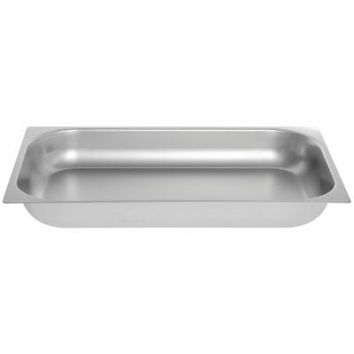 Hubert Full Size Shallow Steam Table Pan 24 Gauge Stainless Steel - 2 12 D