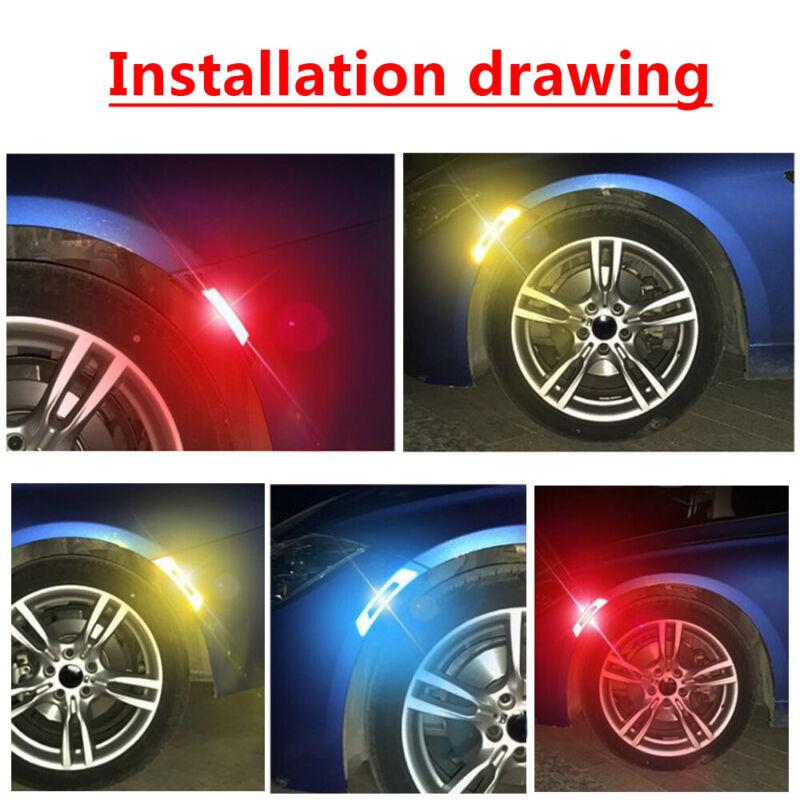 2Pcs//Set Useful Car Door Edge Guard Reflective Sticker Tape Safty Warning Decal