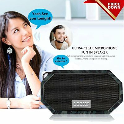 LESHP IP66 Wireless Bluetooth Speaker Best Outdoor Loud Blue Tooth Speakers