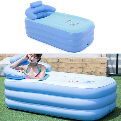 Blow Up Adult PVC Portable Spa Warm Bathtub Inflatable Bath Tub ...