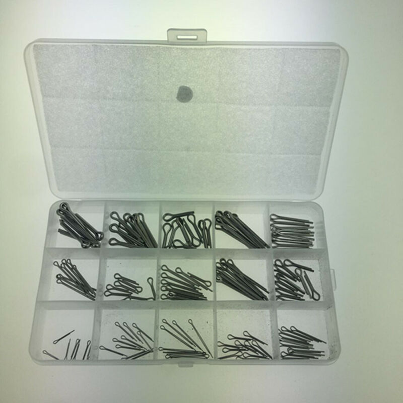 150pcs Stainless Steel Split Cotter Pins Assortment Kits 15 Kinds With Box UK