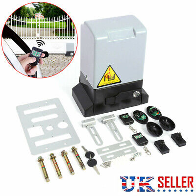 2000kg Automatic Sliding Gate Door Opener Open Strong Motor w/ Remote Control