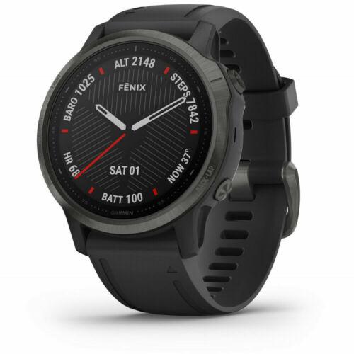 Garmin fenix 6s Sapphire GPS SmartWatch Carbon Gray with Black Band 010-02159-24