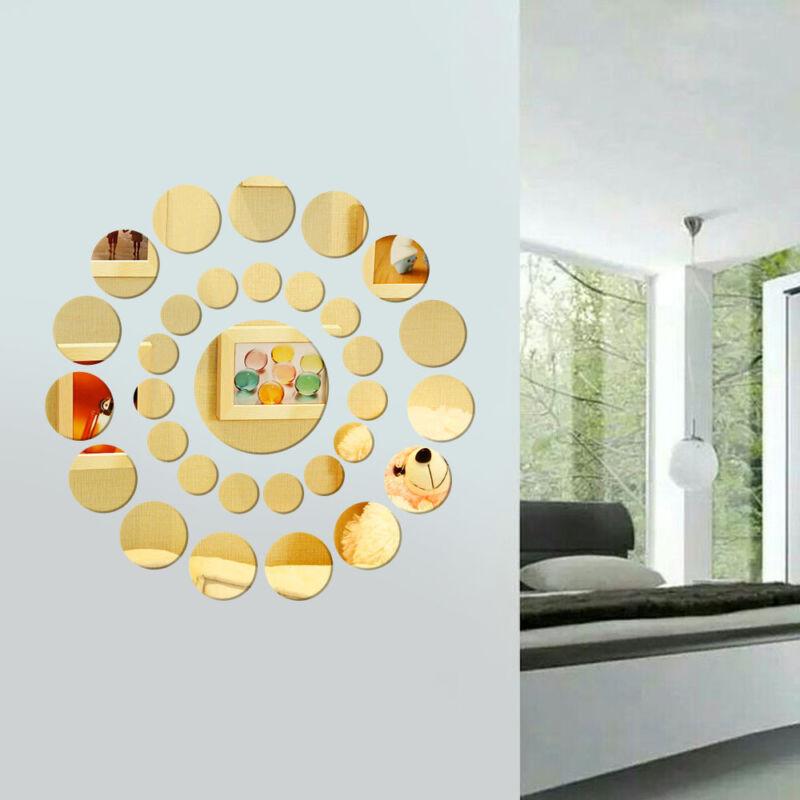31 X Diy Modern 3d Round Mirror Wall Sticker Decor Decal Art Mural Home Bathroom