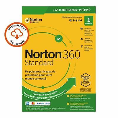 Norton 360 Standard 2020 1 App 1 PC 1 an PC 2019 PC MAC Internet Security BE EU