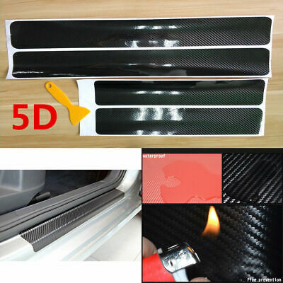 Car Parts - Car Door Sill Scuff Parts Accessories Carbon Fiber Vinyl Plate Sticker Protector