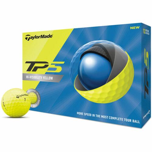 TaylorMade TP5 Golf Yellow Balls - 2 dozens