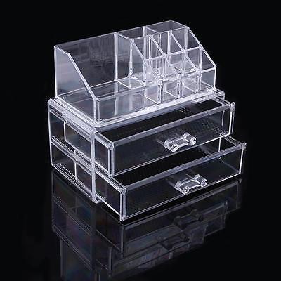 VANITY Premium Acrylic Makeup Jewelry  Storage Organizer Set Drawers Great Gift