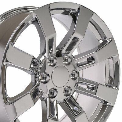 20x8.5 Wheels Fit Cadillac Escalade Chrome Rims 5409 W1X SET
