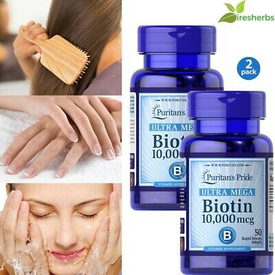 #1 BEST BIOTIN 10,000mcg HEALTHY HAIR SKIN NAILS GROWTH SUPPLEMENT 100