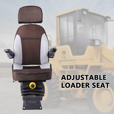 Tractor Seat With Suspension Seat Foldable Armrest Dozer Seat Tractor Skid Steer