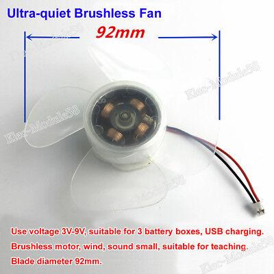 3V-9V DC Brushless Motor USB Electronic Fan DiY Science Learning Kit PWM Speed