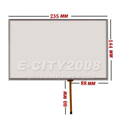 """10.2"""" Resistive Touch screen Digitizer glass For AT102TN03 V9 16:10 235*144"""