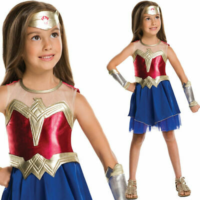 Mädchen Offiziell Wonder Woman Kostüm Superheld Buch Tag (Offizielle Wonder Woman Kostüm)