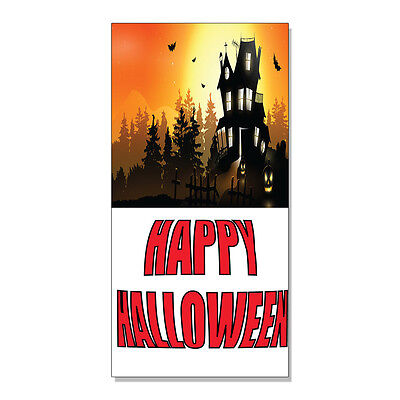 Scary Halloween Stores (Happy Halloween Scary Haunted House  DECAL STICKER Retail Store)
