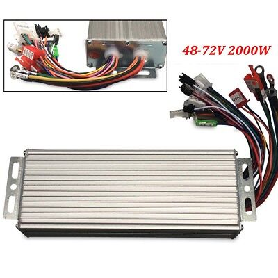 Dc 48-72v Brushless Motor Controller 2000w For E-bike Electric Bicycle Scooter