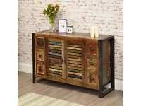 Rustic Industrial Six Drawer Sideboard - Reclaimed Wood