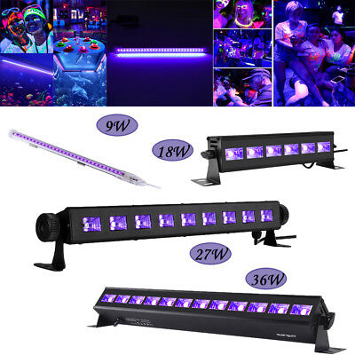 Black Light Bar UV LED 9W 18W 27W 36W Blacklight Party Club Halloween DJ Light - Halloween Party Clubs