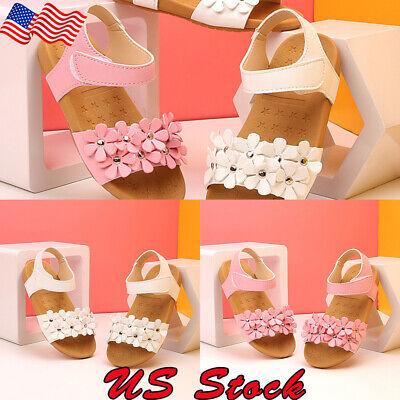 Summer Kids Girl Children Sandals Beach Flower Girls Flat Pricness Shoes Sandals](Flower Girls Shoes)