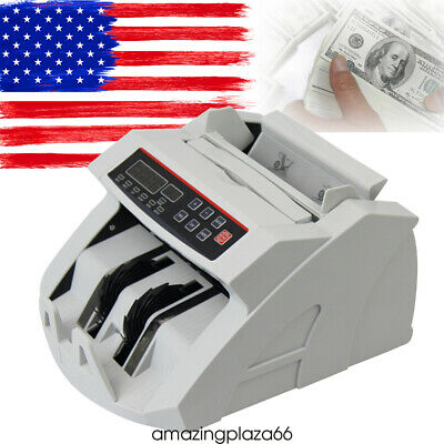 Bill Counter Money Counting Cash Machine Counterfeit Detector Mg Bank Lcd New