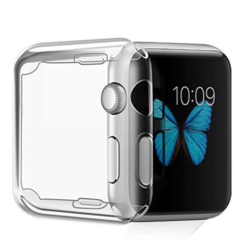 Soft Clear TPU Case Cover Protector For iWatch Apple Watch Series 3/2/1 42mm USA