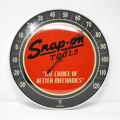 """12"""" Limited Edition Snap-on Collectible Fahrenheit Thermometer, Home or Garage"""