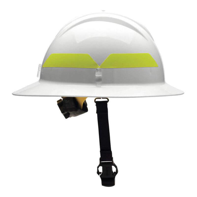 BULLARD FHWHR Fire Helmet,White,Thermoplastic