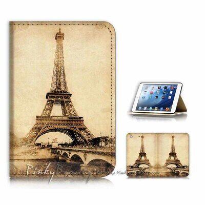 ( For iPad Mini Gen 1 2 3 ) Flip Case Cover AJ21053 Eiffel Tower Paris (Ipad Mini 3 Cover Paris)