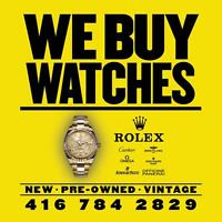 TORONTO WATCH BUYER • WE BUY ROLEX CARTIER ETC ►416-784-2829 ◄