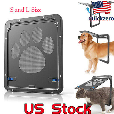 Screen Door Dog Footprint Pattern Cat Window Screen Doggie Flap Safe Pet - Cat Flap Pet Door