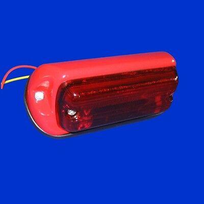 Rücklicht,Schlusslicht mit 2 Funktionen, rotes Metallgehäuse, rotes Glas ()