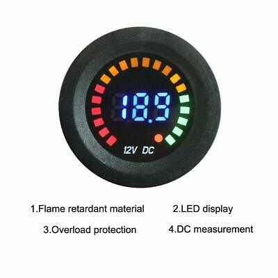 Digital Waterproof 12v Led Car Boat Marine Voltmeter Voltage Meter Battery Gauge