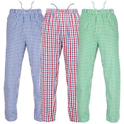 - Ritzy Men's Pajama Pants 100% Cotton Plaid Woven Poplin ComfortSoft - 3 Pack