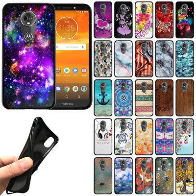 For Motorola Moto E5 Plus / E5 Supra 6 inch TPU Black Silicone Soft Cover - Black Silicone Soft Cover Case