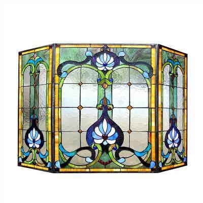 "Chloe Lighting 3pcs Folding Victorian 44"" Wide Tiffany-Glass"