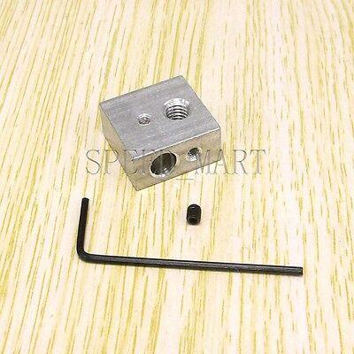 Aluminium Heater Block Extruder Hot End For Reprap 3d Printer M6 For Nozzle