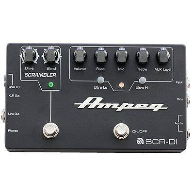Ampeg SCR-DI Bass Scrambler DI Box Overdrive EQ Guitar Effects Pedal - Used