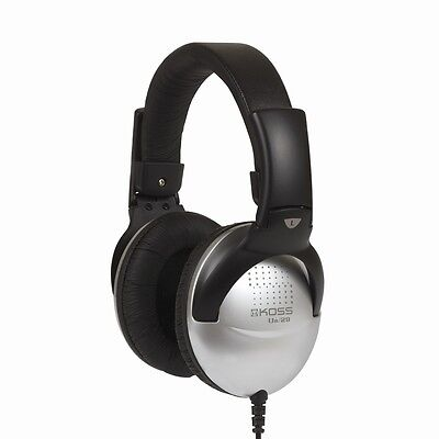 Koss UR29 Full Size Adjustable DJ Style Over the Ear Collapsible Headphones