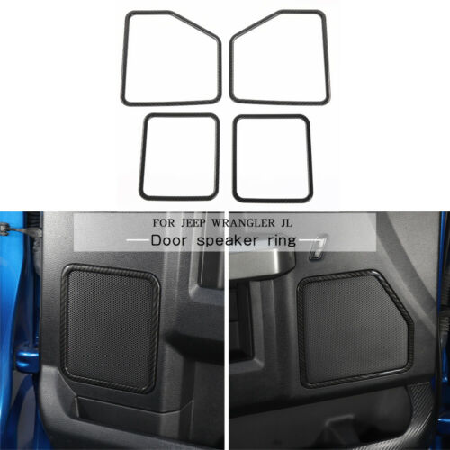 4x Chrome Door Lock Ring Decoration Frame Cover Trim ABS For Ford F150 2015-2019