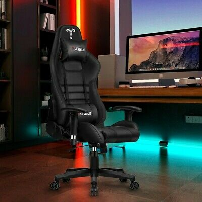 Furgle Office Ergonomic Game Computer Chair With Body-hugging Leather Boss