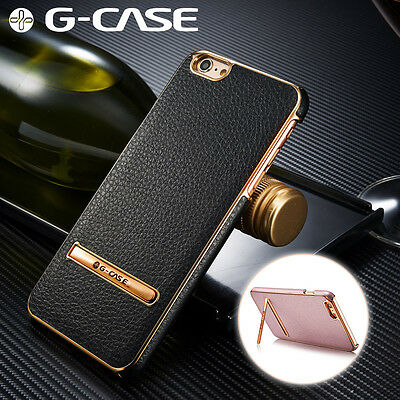 For Apple iPhone 7 Plus 7 6s 6 Shockproof Leather Ultra Thin Hard Stand Case