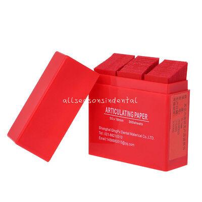 300 Sheet Dental Articulating Paper Strips Dental Lab Oral Teeth Care Strips Red