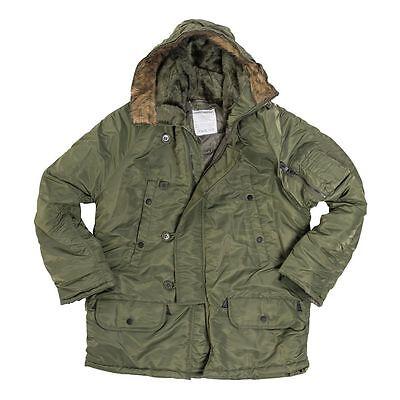 N3B Basic Parka US Army Winterjacke Hooded Kapuze Militär oliv N 3b Parka