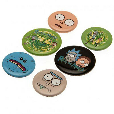 Rick & Morty - Button Badge Set (6 PACK) - GIFT