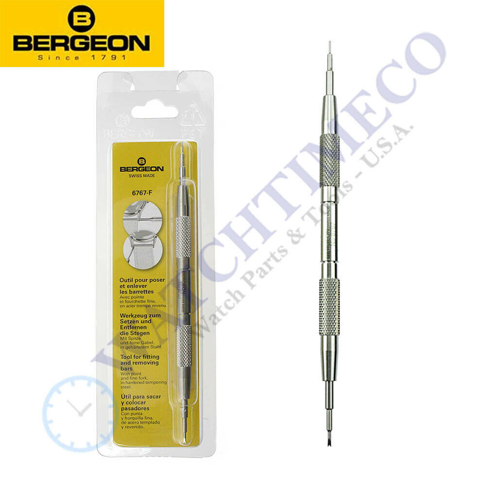 Bergeon 6767 6767-F tool for fitting and removing spring-bars NEW